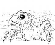 adorable dinosaure facile dessin à colorier