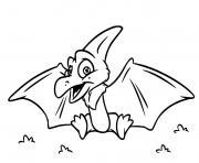 dinosaure volant facile dessin à colorier