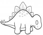 dinosaure kawaii tyrex dessin à colorier