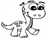 dinosaure mignon maternelle dessin à colorier