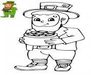 enfants fete saint patrick dessin à colorier