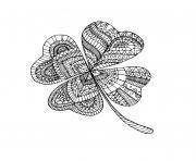 trefle mandala adulte dessin à colorier