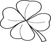 trefle quatre feuilles dessin à colorier