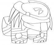 Among Us New Skin Robot Space dessin à colorier