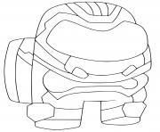 Among Us New Skins Robot dessin à colorier