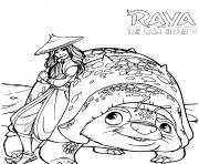 raya et le dernier dragon disney dessin à colorier