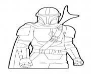 the mandalorian au temple Jedi dessin à colorier