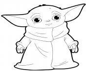 baby yoda bebe dessin à colorier