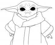 bebe yoda enfant age de 50 ans dessin à colorier