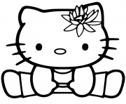 hello kitty gymnastics sport dessin à colorier
