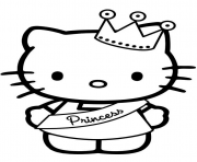 hello kitty princesse dessin à colorier