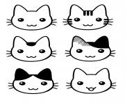 tete de chaton trop mignon dessin à colorier