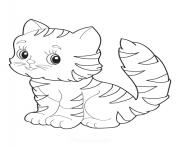 adorable chaton dessin à colorier