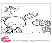 titounis touni poisson dessin à colorier