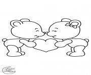 valentin amoureux dessin à colorier