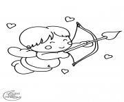 valentin anges dessin à colorier