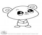 panda titounis dessin à colorier
