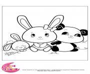 titounis panda touni dessin à colorier