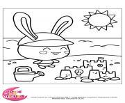 titounis plage dessin à colorier