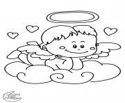 valentin ange dessin à colorier