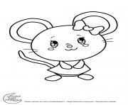 titounis souris dessin à colorier