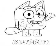 Muffin Blue Heeler dessin à colorier