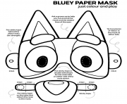 Bluey Paper Masque dessin à colorier