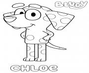 Dalmatian Chloe dessin à colorier