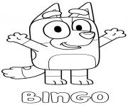 Red Heeler Bingo dessin à colorier