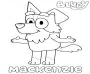 Chien Mackenzie Blueys dessin à colorier