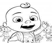 cocomelon JJ jay retourne a lecole dessin à colorier