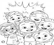 cocomelon characters dessin à colorier