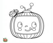 cocomelon logo dessin à colorier