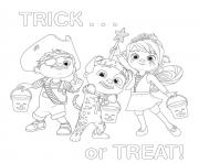 cocomelon halloween trick or treat dessin à colorier