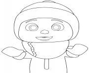 cocomelon TomTom hiver froid dessin à colorier