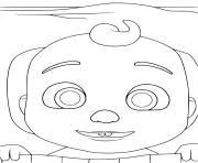 baby jay cocomelon le temps de dormir dessin à colorier