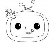 cocomelon logo chaine tele dessin à colorier