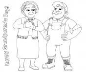 journee des grands parents dessin à colorier