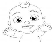 JJ Jay bebe cocomelon dessin à colorier