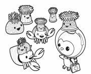 anemone hat party octonauts dessin à colorier