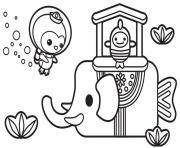 elephant de mer octonautes explorateur sous marins dessin à colorier