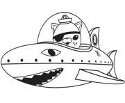 octonaut gup b requin dessin à colorier