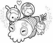 cuddle with a cuttlefish octonauts dessin à colorier
