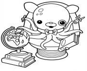 professeur inkling les octonauts dessin à colorier