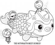 the octonauts meet dunkie octonauts dessin à colorier