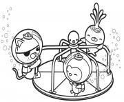 les octonauts ont du plaisir au parc dessin à colorier