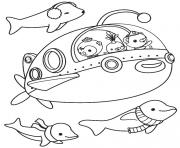 les octonauts sous marin en aventure dessin à colorier