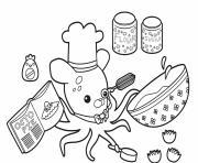 baking with professor inkling octonauts dessin à colorier