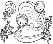 les octonauts decouvrent la coquille et perle d sous la mer dessin à colorier