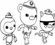 captain barnacles kwazii en action dessin à colorier
